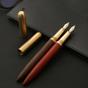 Brass Sandalwood Male and Female Students Calligraphy Business Pen Creative Personality Gift Advertising Pen Wholesale Custom Logo