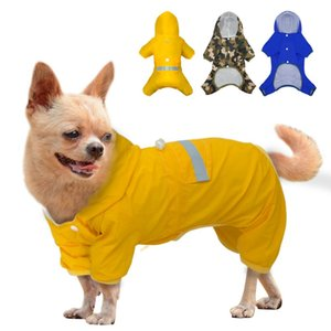 Camouflage Dog Raincoat Clothes Pet Puppy Waterproof Jacket Reflective Dog Rain Coat Hooded Cat Coat For Small Medium dogs S M L T200328