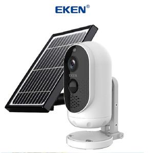 태양 전지 패널 배터리 IP65 WIFI 비바람에 동작 감지 무선 보안 카메라와는 Eken 천체 1080P WIFI IP 카메라