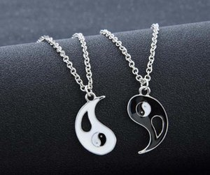 Fashion Necklaces Eight Diagrams Black and White Yin Yang Pendant for Couples Lover Best Friends Friendship Unisex Jewelry Gifts