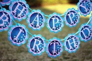 PARTY FLAG BANNER BUNTING Birthday Party Supplies Gefrorenes Flagge Banner Geburtstag Bunting Dekorationen Itsb #