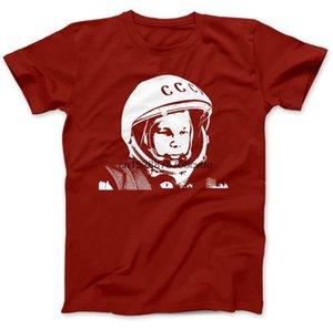Новый мужской футболки Юрий Гагарин Tribute Советский космонавт Футболка 100% хлопок Премиум CCCP Восток тенниска
