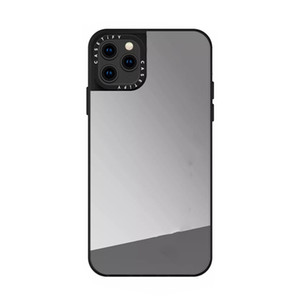 B38 دائمة حالة سيليكون ل iphone11pro ماكس مرآة الغطاء الواقي الخلفي