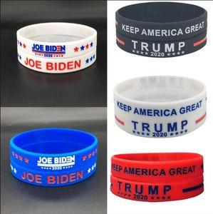 Trump silicone Wristband caoutchouc Biden soutien Bracelets Bangles Vote font de l'Amérique Grand Donald Trump 2020 Bijoux OOA8156