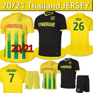 20 21 FC Nantes maison maillot de football maillot de foot 2020 2021 SIMON LOUZA A TOURE BLAS COCO COULIBALY football chemises enfants Kit hommes thaïlande