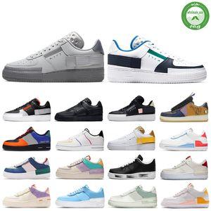 Nike air force 1 N354 réagissent chaussures de course triple Blueprint Chaussures blanc noir des femmes de formateurs hommes de sports de plein air Plate-forme 36-45