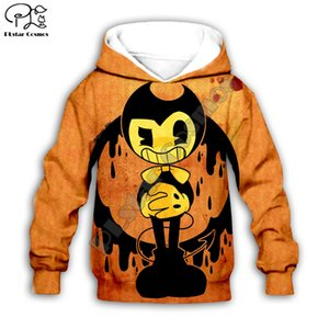Kid Pullover Anime Bendy Cartoon Print Children 3d hoodies boy Girl sweatshirt Zipper Jacket Coat family matching clothes outfit Y200713