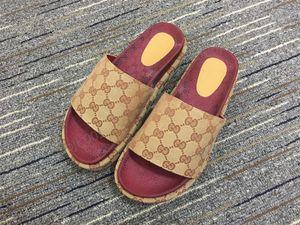 Xshfbcl Rubber slide sandal Floral brocade men slipper Gear bottoms Flip Flops women striped Beach causal slipper size 35-42