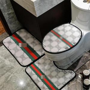 Classic lettera stampata Toilet Seat Cover Moda Soft Touch Uomini Donne igienici Mat retrò tre pezzi del modello casa Mat Accessori