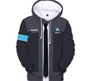 New Game Detroit Becomes Human 3D Printed Hoodie Sweatshirt Unisex Uniform Hat Hoodie Fashion Print Clothes Cool Coat