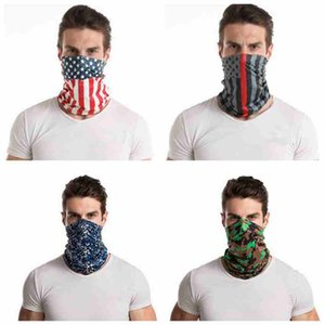 14 Styles Mode Bandana Camo masque facial Sports de plein air Bandeau Turban Echarpes Foulard magique Cyclisme visage Masques CYZ2549