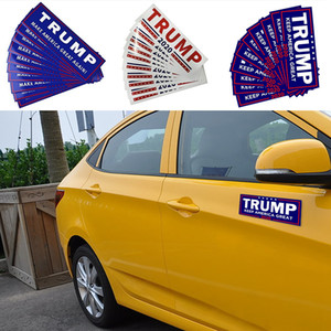 Trump Car Stickers 13 Styles 76*23cm Keep Make America Great Again Donald Trump Stickers Bumper Sticker Novelty Items 10pcs set OOA6901