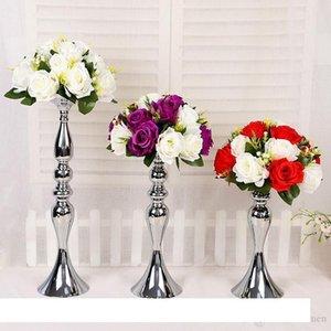 Wedding Candle Holder 32 38 50cm silver gold candlestick home decoration ornaments road lead main table vase flower arrangement wedding DHL