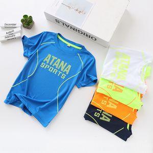 Letter print 2020 new children's summer kids in the big quick dry short-sleeve boy's Children's T-shirt Top Coat top T-SHIRT
