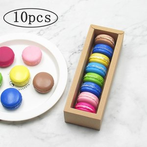 Macaron Box with Window Paper Macarons Box Packaging Cookie Macaron Packaging Containers Wedding Birthday Party