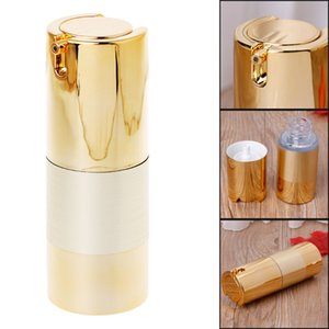 15/30/50 ml Leere Airless Flaschen-Kosmetik Kunststoff Pump Container Reise Make-up Gold-