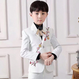 White Notched Lapel Suits One Button Wedding Suits For Boy Children Party Tuxedos boys Smoking blazer (jacket+pant) elLc#