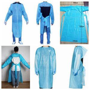 CPE Защитная одежда Одноразовая Изоляция мантий Одежда Костюмы против пыли Открытый Защитная одежда одноразовая Плащи RRA3382