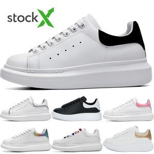 2020 Новый Мужская обувь Мода женщин обувь мужская кожа Узелок платформы Крупногабаритные Подошва кроссовки белый черный Повседневная обувь с коробкой Размер 36-45