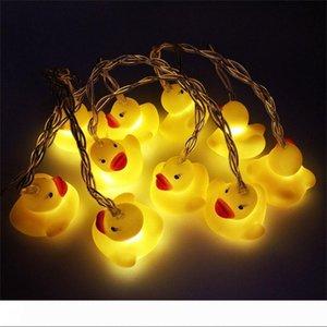 BRELONG nuevo animal de silicona amarilla pequeña cadena de LED de pato fiesta de Navidad linterna de la decoración