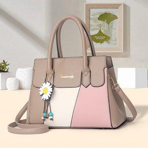 2020 new fashion Shoulder handhand handbag color matching large capacity Women's Hand bag Korean style shoulder messenger bags