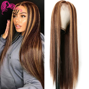 Beauty Forever 13x4 Straight Honey Blonde Ombre Color Highlight 150% Lace Front Human Hair Wigs Remy Brazilian Wigs T4 12