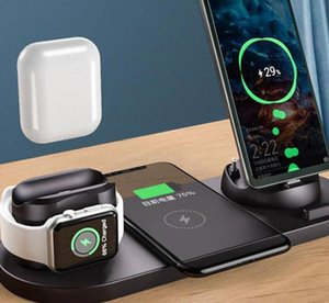 The new multi-functional six-in-one wireless charger is suitable for watch headphones and mobile phone wireless chargers.