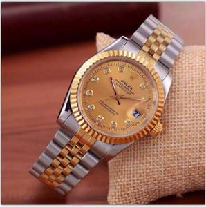 relogio masculino de diamantes mens relógios fashion Preto Dial Calendário pulseira de ouro Fecho dobrável Mestre Masculino 2020 presentes homens luxo relógio