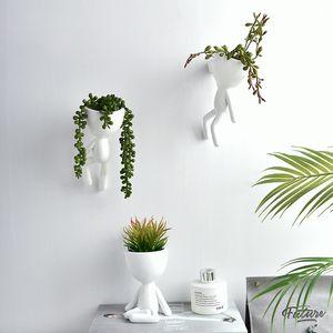 Garden Supplies Home Hanging Ceramic Ball Vase Flower Planter Pots Terrarium Container Hanging Flower Pot Home Garden Decoration Y200709
