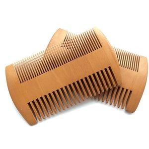 Health Care Peach Wood Comb Массаж Предотвратить Заузливание Борода Combs Вход Цвет Карман Щетка для укладки волос Инструменты Макияж Толстая 1 85my B2