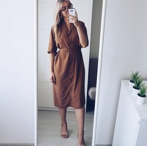 2020 spring summer women blouses casual loose long shirts lady tops blusas fashion female batwing sleeve solid shirt dress lady Y200622