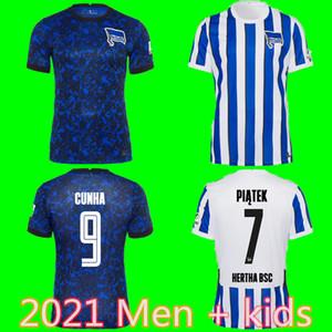 20 21 Hertha BSC Soccer Jersey PIATEK DUDA CUNHA KALOU KOPKE MITTELSTADT TORUNARIGHA TOUSART 2020 2021 Hertha Berlin Accueil Football Shirt