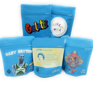 30 pcs Cookies Embalagem Gags Cookies SF 3.5G 420 Mylar Sacos Bolo Cheetah Piss Gelatti Gary Payton Leite De Cereal 3D Hologreter