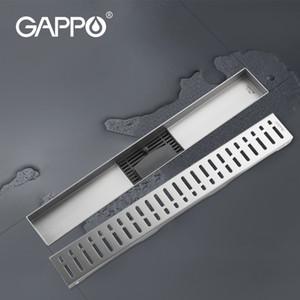 GAPPO مكافحة رائحة مصارف Recgangle الخطي النفايات تجفيف حمام الطابق استنزاف الغلاف سدادة دش الحمام استنزاف الشعر الماسك T200715