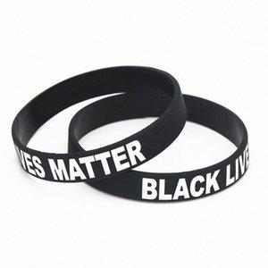 Lives Noir Matière noire Problème Bracelet en silicone Bracelet Fashhion Bijoux QzIA #