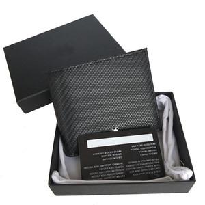 titular do bolso da forma seção fina cartão de identificação de couro preto caixa CLIP top carteira dos homens do desenhador curto dobrar carteira