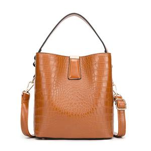 2020 vintage bucket shoulder bag fashion trend large capacity pu handheld straddle bag