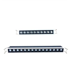 Инновации Linear Потолок Встраиваемый свет, Диммируемый 2WX10 2WX15 светящихся точки Малого Beam 15 30 High Контраст Невидимый LED Downlight