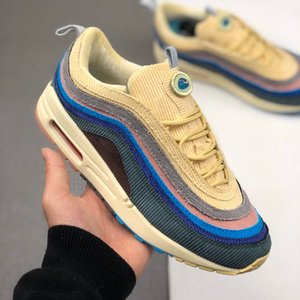 Sean Wotherspoon 97 Mens Running shoes MSCHF x INRI Jesus UNDEFEATED Triple black 97s Reflective Men Air women sports Sneakers 36-45 Maxes