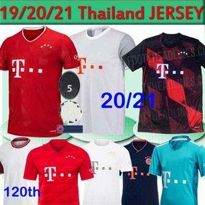 Bayern Munich SANE camiseta de fútbol 19 20 21 Lewandowski DAVIES MULLER GNABRY HERNÁNDEZ camisa de los hombres del fútbol para niños 120o 120 años MUNCHEN 2020