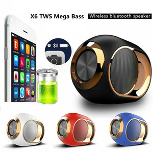 X6 Yüksek uç HIFI blueteeth hoparlör Taşınabilir Kablosuz blueteeth 5.0 Stereo Mega Bass Sound soundbar FM TF Kart AUX Mini Hoparlör tws