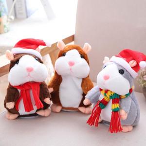 Pelúcia animais falantes Hamster Rato Pet Plush brinquedo do rato Fala bonito Som Gravar Hamster Falar Registro mouse Stuffed Toy Crianças DHD270