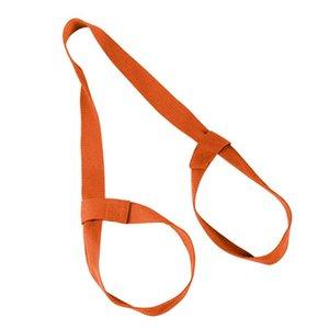 Outdoor Gym não Slip Loops ajustáveis Durable Elastic exercício do estiramento da aptidão Acessório cintura Leg Yoga Mat alça de transporte ombro