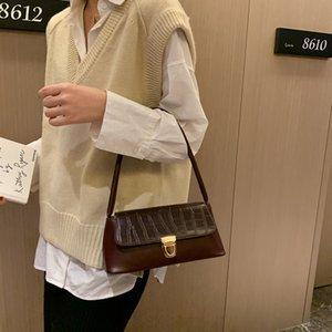 Timsah desen taşınabilir kadın Timsah taşınabilir koltukaltı durak 2020 üst düzey anlamda Hanımın koltukaltı çantası durak çantası