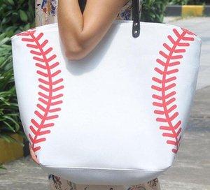 حقائب قماش حقيبة يد حمل البيسبول الأزياء الرياضية الكرة اللينة حقيبة البيسبول قماش حمل حقيبة حقيبة يد كبيرة المتضخم أمي شاطئ المساعدة