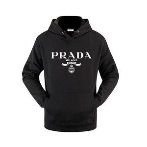 20SS PRADA Италия роскошного бренд мода дизайнер одежды Mens Женщина Толстовка с длинным рукавом с капюшоном куртки Prad летом пуловер Сыпучей Толстовка