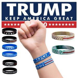 DHL Trump 2020 pulsera partidarios pulsera de silicona hacer de Estados Unidos Gran Carta De nuevo pulsera de silicona Donald Trump pulsera de Baloncesto