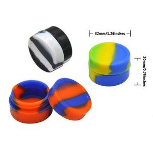 Toptan 2ml Silikon Kavanozları Dab İçin Konsantre Yağ Wax Yeniden kullanılabilir Yuvarlak Yapışmaz Silikon Konteyner Wax Konteyner