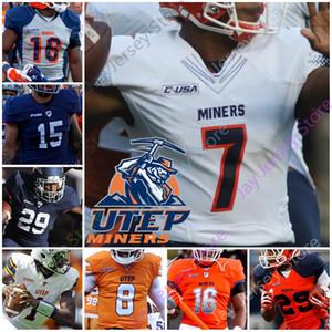 Özel 2020 UTEP Madenciler Futbol Jersey NCAA Kolej Denzel Chukwukelu Brandon Jones Josh Alanlar Aaron Jones Marcus Thomas Fred Carr