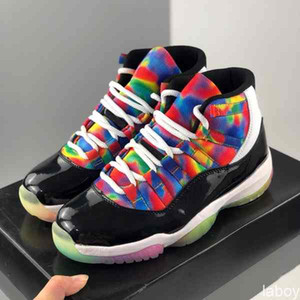 With box Jumpman 11s Womens Mens Basketball Shoes 11 Mens Sports Sneakers rainbow Colorful Trainers Outdoor baskets des chaussures